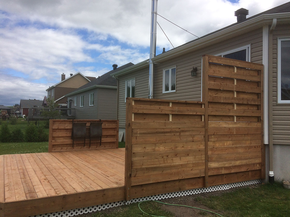 Patio En Bois Traite Brun Construction D Mark